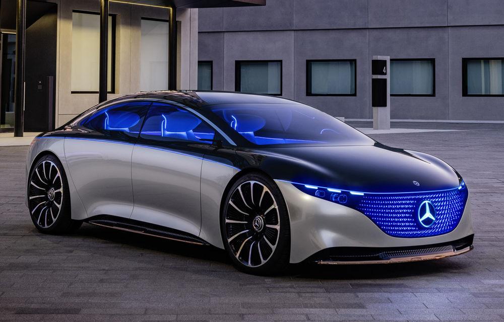 Mercedes-Benz Vision EQS: conceptul viitoarei generații Clasa S este electric și are autonomie de 700 de kilometri - Poza 1