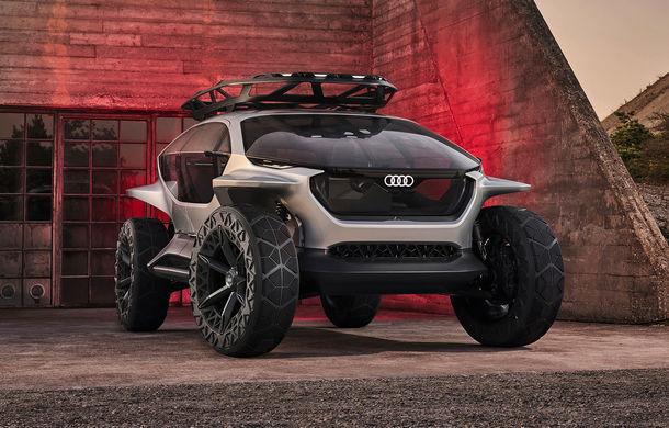 Conceptul Audi AI Trail quattro a fost expus la Frankfurt: prototipul electric cu autonomie de până la 500 de kilometri anticipează designul viitoarelor SUV-uri Audi - Poza 1