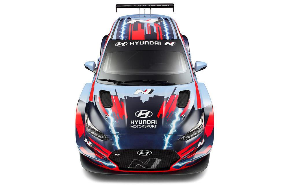 Hyundai a prezentat modelul electric de circuit Veloster N ETCR: motor electric amplasat central și roți motrice spate - Poza 3
