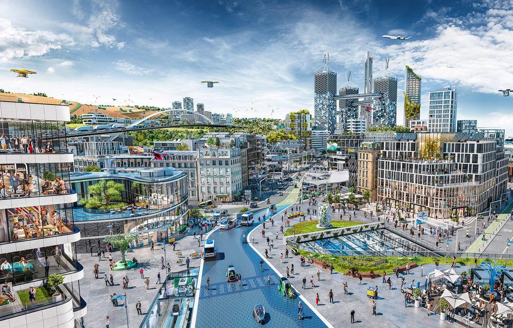 Continental prezintă tehnologiile viitorului imediat: sistem mild-hibrid la 48V cu rulare 100% electrică, siguranță sporită cu noul asistent pentru virajul la dreapta și orașele conectate ale viitorului - Poza 1