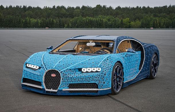Singurul Bugatti Chiron în mărime naturală fabricat din piese Lego va putea fi admirat și în România începând cu 26 septembrie: modelul integrează peste un milion de piese Lego - Poza 2
