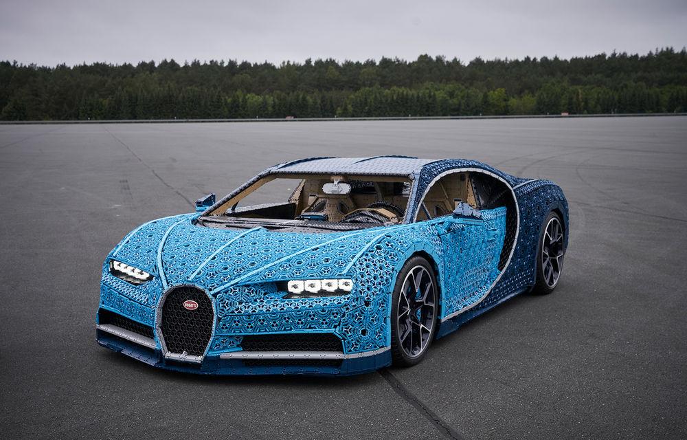 Singurul Bugatti Chiron în mărime naturală fabricat din piese Lego va putea fi admirat și în România începând cu 26 septembrie: modelul integrează peste un milion de piese Lego - Poza 3