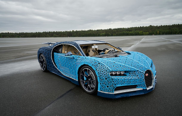 Singurul Bugatti Chiron în mărime naturală fabricat din piese Lego va putea fi admirat și în România începând cu 26 septembrie: modelul integrează peste un milion de piese Lego - Poza 4