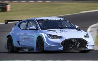 Prima apariție pe circuit a lui Hyundai Veloster N ETCR: producătorul asiatic a testat modelul electric la Hungaroring