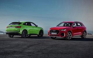 Primele imagini și detalii tehnice despre Audi RS Q3 și RS Q3 Sportback: SUV-urile de performanță au motor de 2.5 litri și 400 de cai putere
