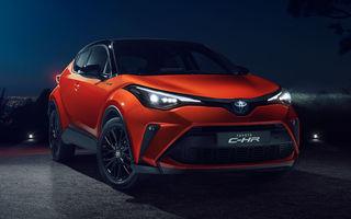 Toyota C-HR facelift, primele imagini și detalii: versiune hibrid de 184 CP și mici modificări estetice