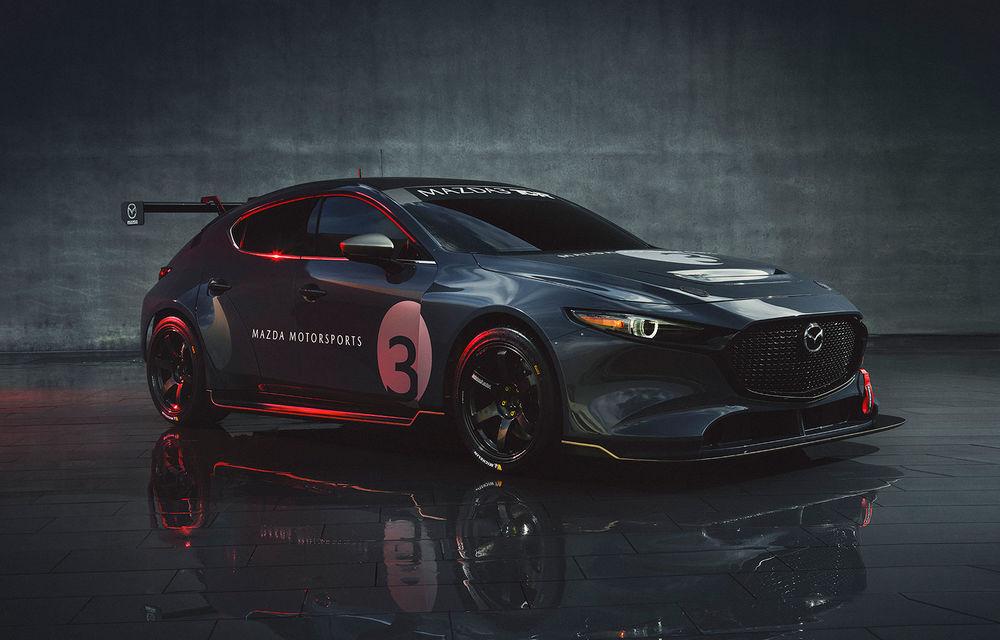 Mazda 3 primește o versiune de circuit: 350 CP și pachet aerodinamic special - Poza 1