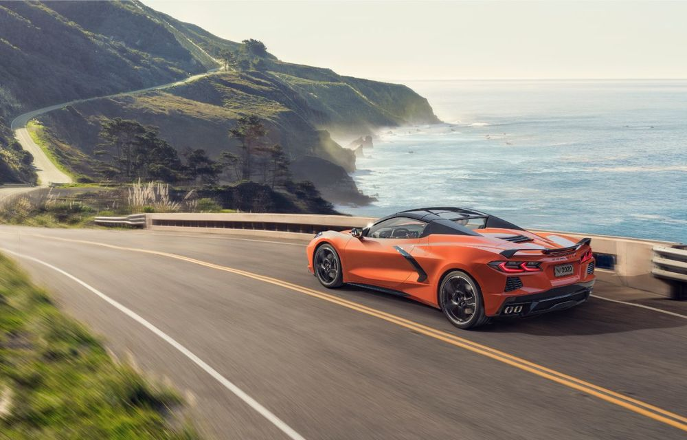 Chevrolet a prezentat noul Corvette Convertible: 502 CP și plafon de tip hardtop care poate fi operat până la 48 km/h - Poza 4
