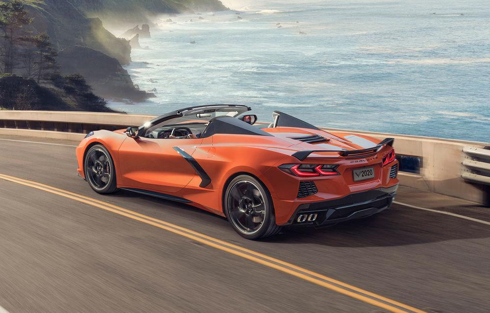 Chevrolet a prezentat noul Corvette Convertible: 502 CP și plafon de tip hardtop care poate fi operat până la 48 km/h - Poza 1