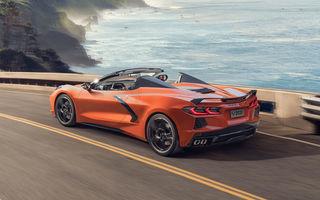 Chevrolet a prezentat noul Corvette Convertible: 502 CP și plafon de tip hardtop care poate fi operat până la 48 km/h