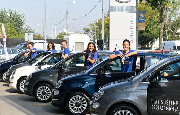 Fiat devine noul partener al clubului de handbal CSM București: jucătoarele au primit 8 unități Fiat 500 pentru o perioadă de 12 luni - Poza 1