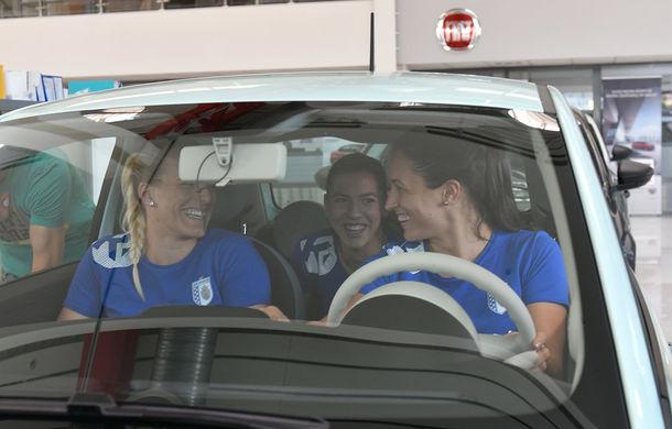 Fiat devine noul partener al clubului de handbal CSM București: jucătoarele au primit 8 unități Fiat 500 pentru o perioadă de 12 luni - Poza 6