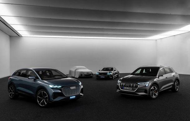 Audi a publicat o imagine teaser cu un viitor concept electric: versiunea de serie a acestuia va avea la bază o platformă nouă dezvoltată alături de Porsche - Poza 1