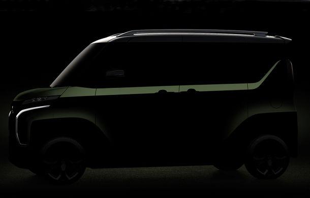 O nouă imagine teaser cu prototipul Mitsubishi Mi-Tech: conceptul niponilor are patru motoare electrice și o turbină pe gaz cu rol de range extender - Poza 2