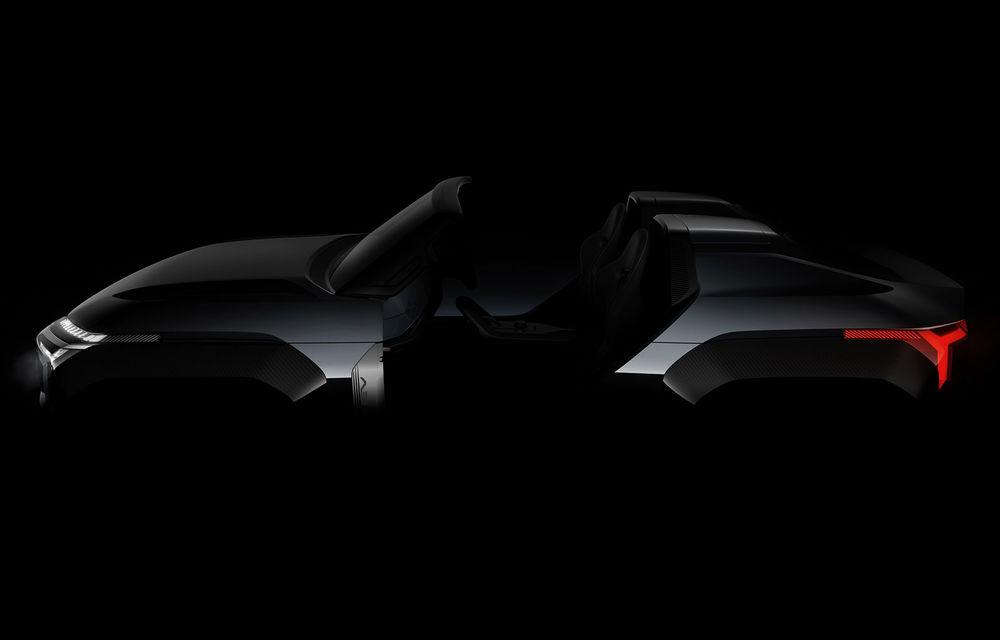 O nouă imagine teaser cu prototipul Mitsubishi Mi-Tech: conceptul niponilor are patru motoare electrice și o turbină pe gaz cu rol de range extender - Poza 1