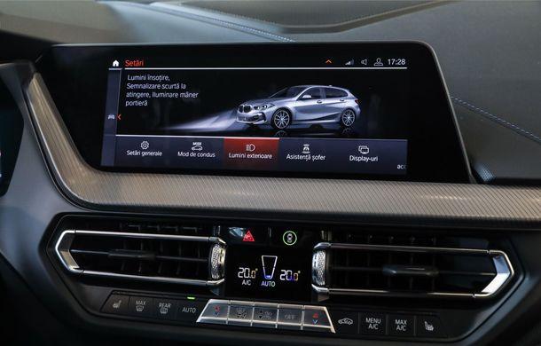 BMW a prezentat noul Seria 1 în România: interfață iDrive disponibilă în limba română și informații despre trafic în timp real. Preț de pornire de 27.600 de euro - Poza 30