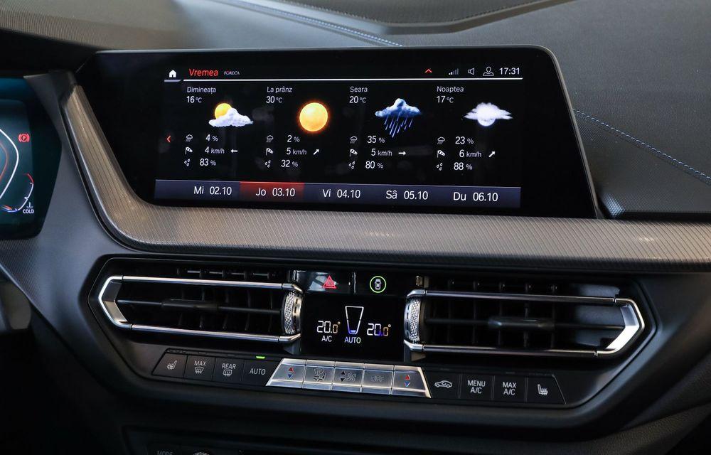BMW a prezentat noul Seria 1 în România: interfață iDrive disponibilă în limba română și informații despre trafic în timp real. Preț de pornire de 27.600 de euro - Poza 36