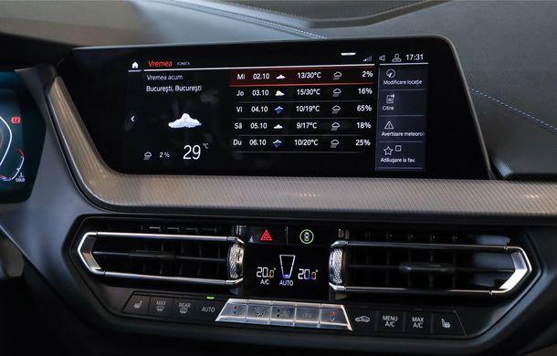 BMW a prezentat noul Seria 1 în România: interfață iDrive disponibilă în limba română și informații despre trafic în timp real. Preț de pornire de 27.600 de euro - Poza 35