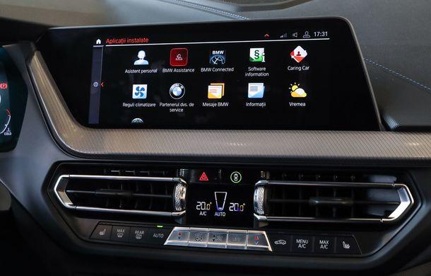 BMW a prezentat noul Seria 1 în România: interfață iDrive disponibilă în limba română și informații despre trafic în timp real. Preț de pornire de 27.600 de euro - Poza 34