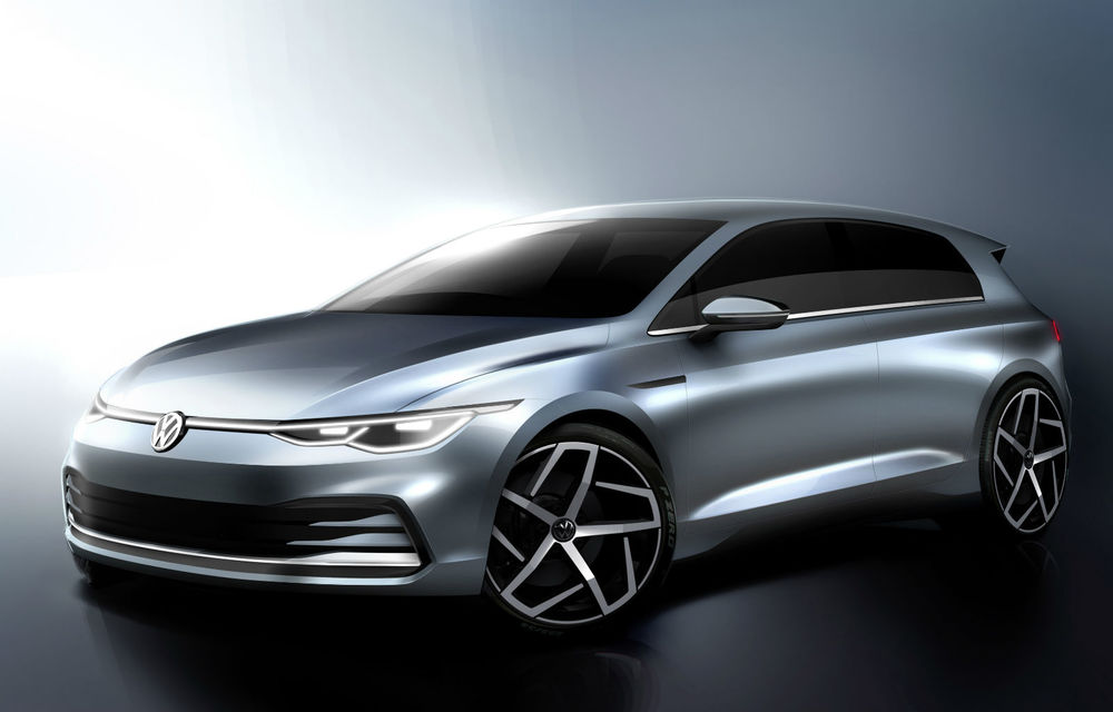 Schițe oficiale cu noul VW Golf: premieră mondială în 24 octombrie, la Wolfsburg - Poza 1