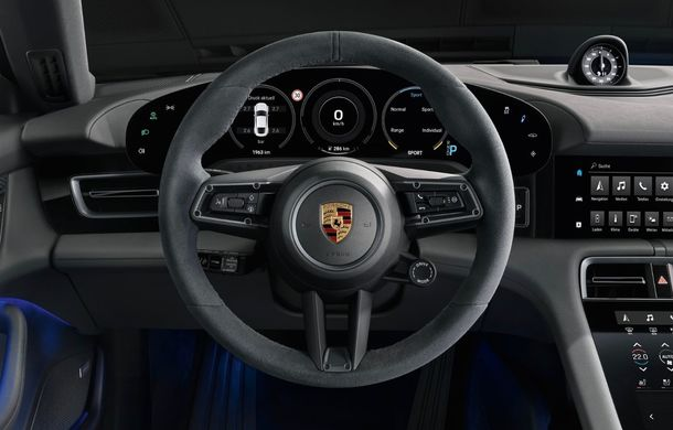 Imagini și detalii referitoare la noua versiune Porsche Taycan 4S: două variante de baterii și autonomie de până la 463 de kilometri - Poza 12