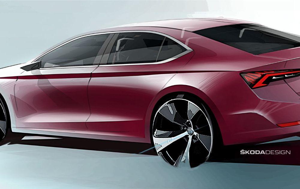Primele schițe cu viitoarea generație Skoda Octavia: prezentarea noului model va avea loc în 11 noiembrie - Poza 2