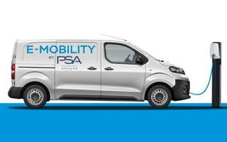 PSA va lansa anul viitor versiuni electrice pentru toate utilitarele din grup: variante cu autonomie de 200 sau 300 de kilometri