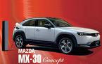 Prima imagine cu Mazda MX-30: primul model electric al japonezilor va fi prezentat în 23 octombrie