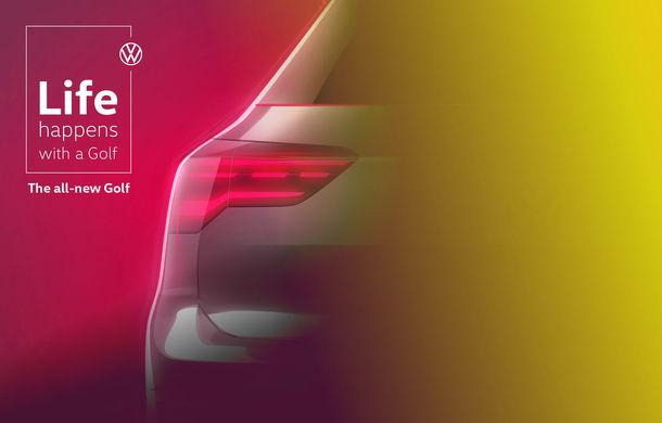Un nou teaser pentru noua generație Volkswagen Golf: germanii prezintă spatele hatchback-ului - Poza 1