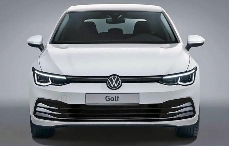 """Acesta este noul Volkswagen Golf: primele imagini cu modelul compact, """"scăpate"""" pe internet înainte de prezentarea oficială - Poza 8"""
