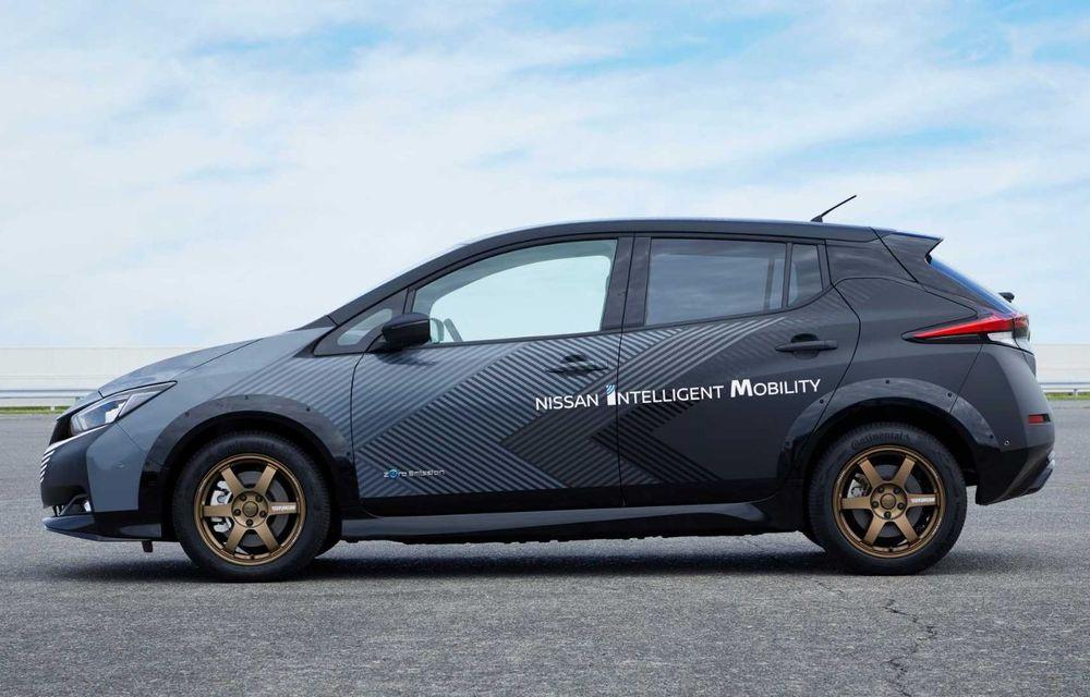 Nissan a pregătit un prototip electric cu tracțiune integrală și 308 CP: conceptul are la bază versiunea Leaf e+ - Poza 7