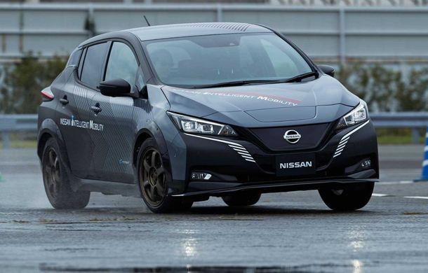Nissan a pregătit un prototip electric cu tracțiune integrală și 308 CP: conceptul are la bază versiunea Leaf e+ - Poza 2