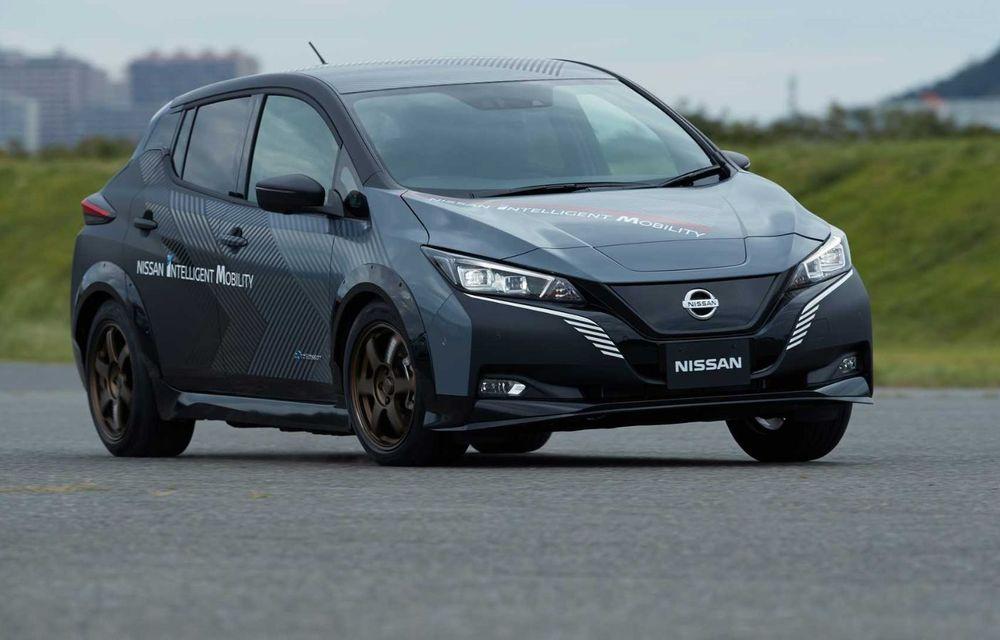 Nissan a pregătit un prototip electric cu tracțiune integrală și 308 CP: conceptul are la bază versiunea Leaf e+ - Poza 3