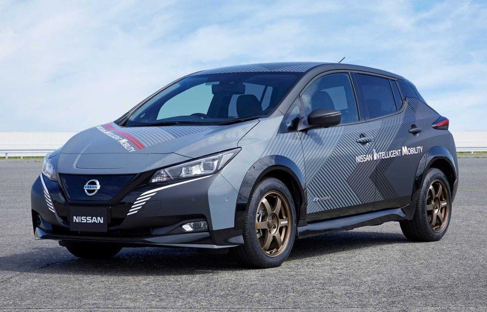 Nissan a pregătit un prototip electric cu tracțiune integrală și 308 CP: conceptul are la bază versiunea Leaf e+ - Poza 6