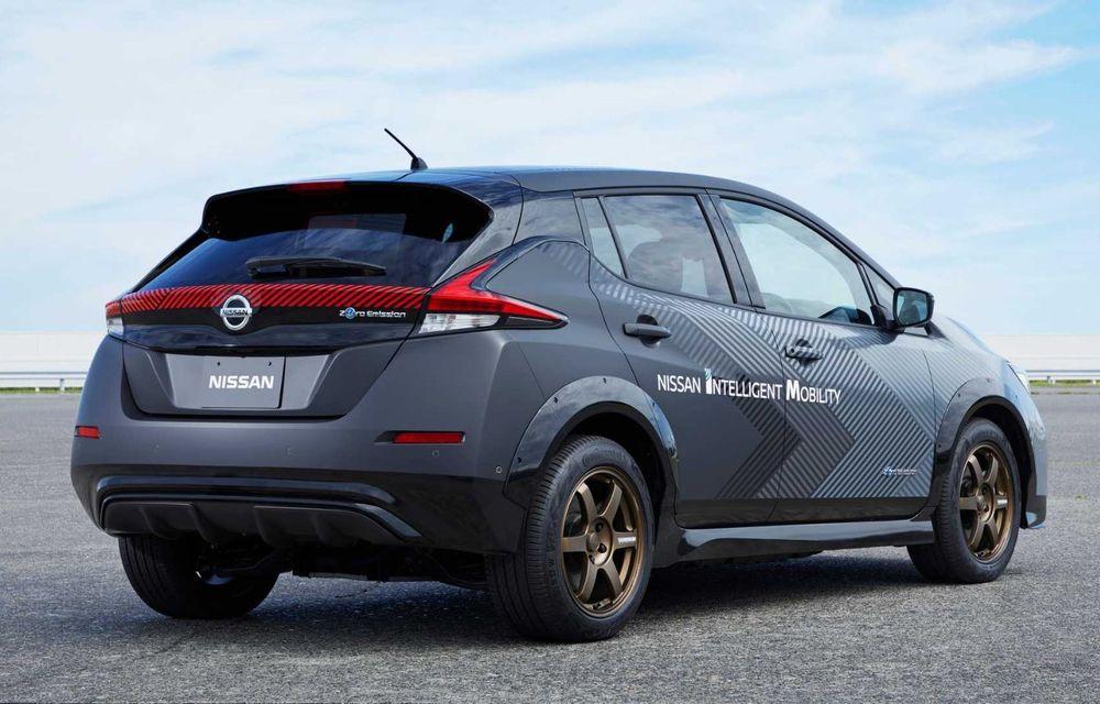 Nissan a pregătit un prototip electric cu tracțiune integrală și 308 CP: conceptul are la bază versiunea Leaf e+ - Poza 8