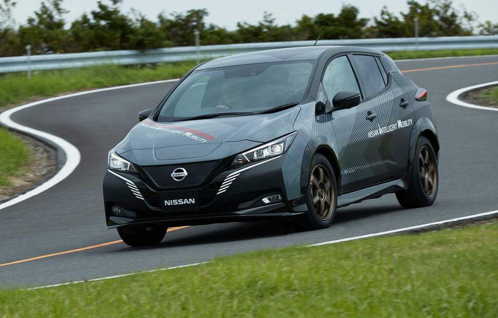 Nissan a pregătit un prototip electric cu tracțiune integrală și 308 CP: conceptul are la bază versiunea Leaf e+ - Poza 1