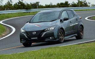 Nissan a pregătit un prototip electric cu tracțiune integrală și 308 CP: conceptul are la bază versiunea Leaf e+
