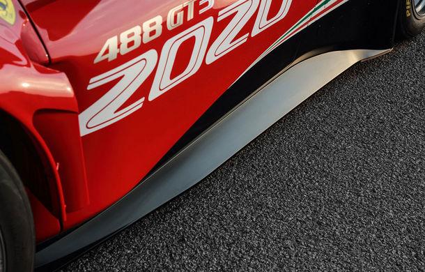 Faceți cunoștință cu Ferrari 488 GT3 EVO: elemente aerodinamice noi, ampatament mai mare și pachet special pentru curse de anduranță de 24 de ore - Poza 5