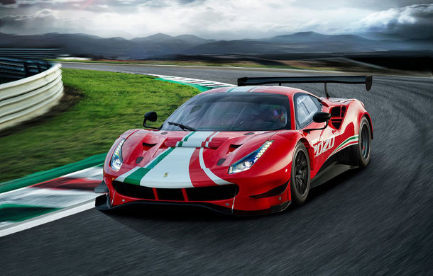 Faceți cunoștință cu Ferrari 488 GT3 EVO: elemente aerodinamice noi, ampatament mai mare și pachet special pentru curse de anduranță de 24 de ore - Poza 1