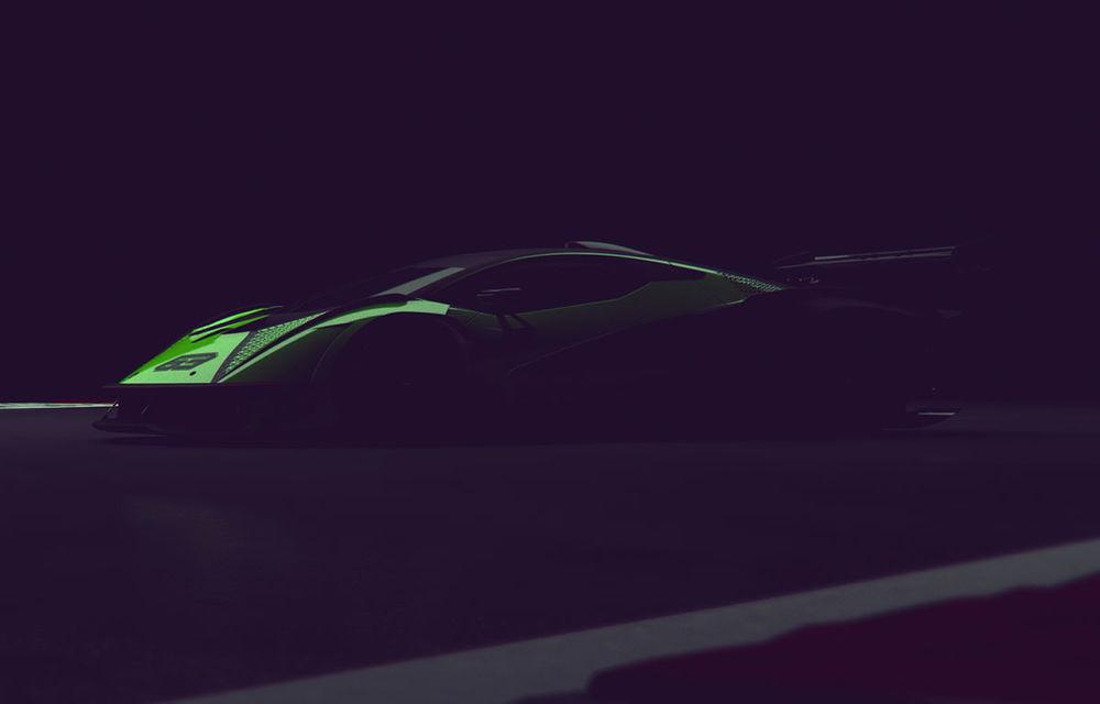 Primul teaser video cu viitorul hypercar de circuit dezvoltat de Lamborghini: modelul va miza pe motorul V12 și va oferi 830 CP - Poza 1