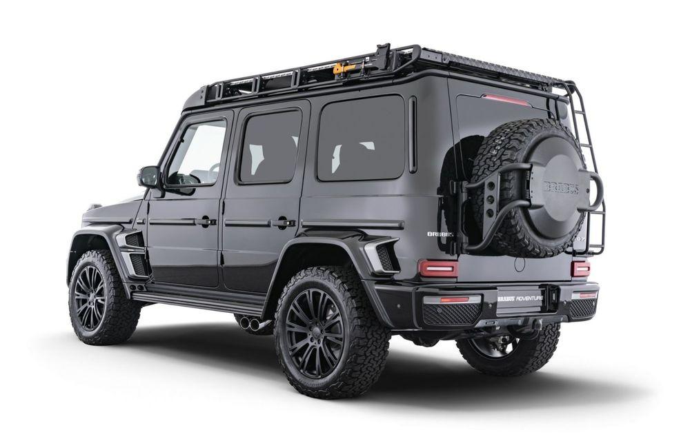 Tratament special pentru Mercedes-Benz Clasa G din partea tunerului Brabus: gardă la sol mai mare cu 40 de milimetri și 330 CP oferiți de motorul diesel de 3.0 litri - Poza 4