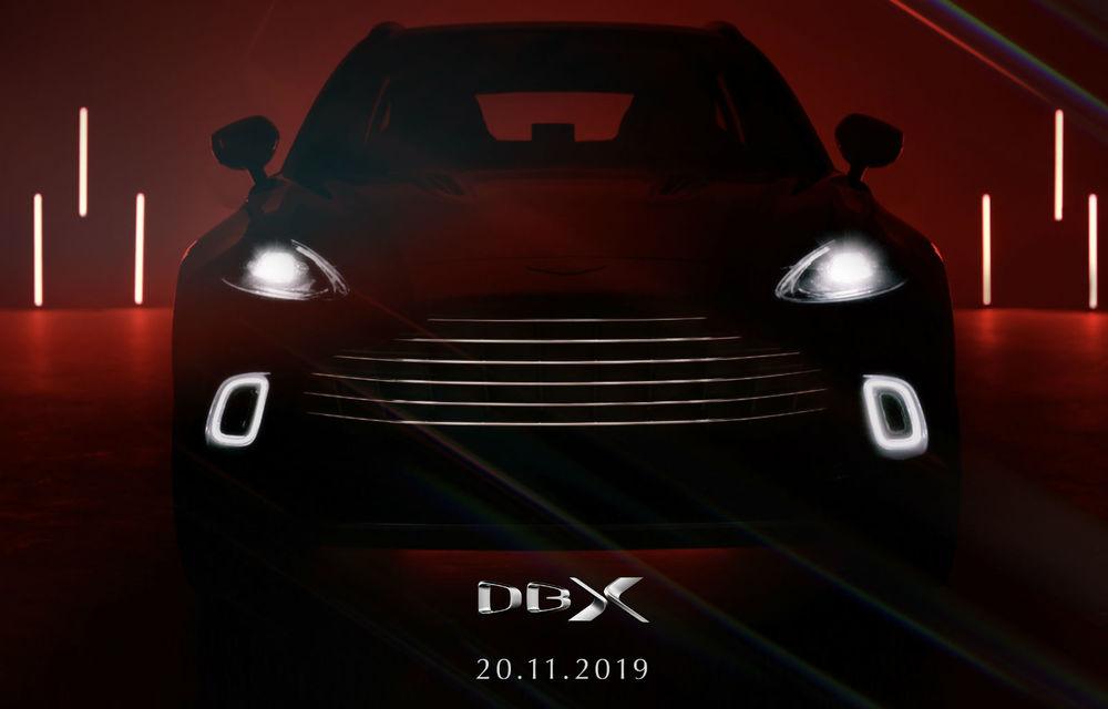Prima imagine cu interiorul lui Aston Martin DBX: preț de 193.500 de euro în Germania, prezentarea în 20 noiembrie - Poza 2