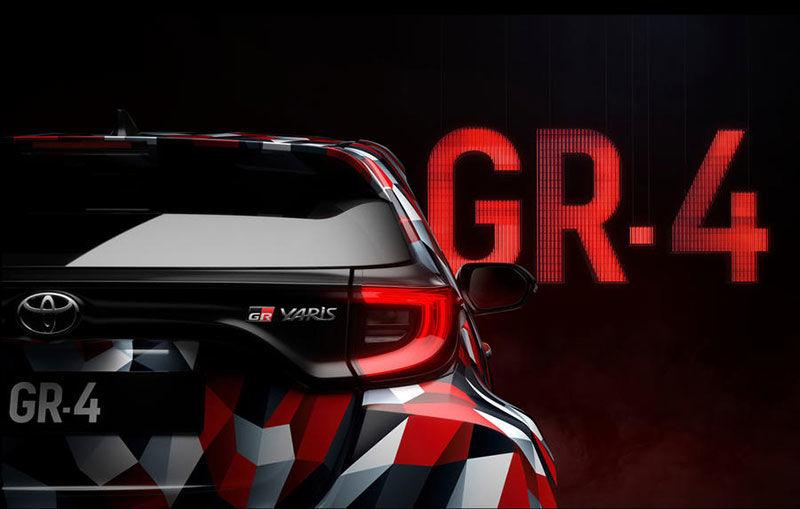 Prima imagine teaser cu viitorul Toyota Yaris GR-4: Hot Hatch-ul niponilor va avea tracțiune integrală și va fi expus în 17 noiembrie - Poza 1