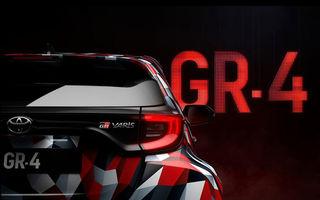 Prima imagine teaser cu viitorul Toyota Yaris GR-4: Hot Hatch-ul niponilor va avea tracțiune integrală și va fi expus în 17 noiembrie