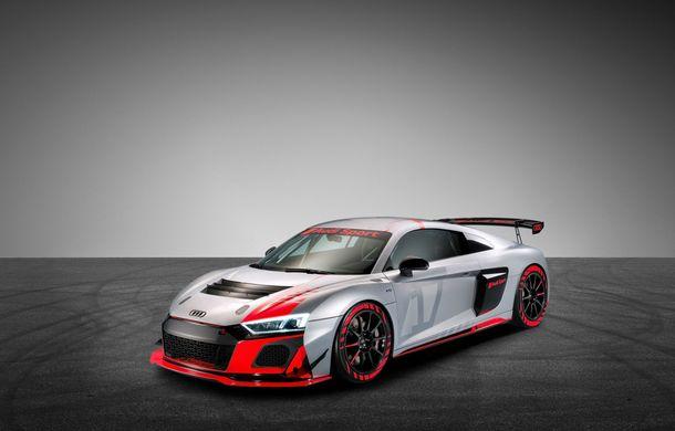 Audi a prezentat noua versiune R8 LMS GT4: versiunea de circuit oferă 495 CP și roți motrice spate - Poza 12