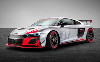 Audi a prezentat noua versiune R8 LMS GT4: versiunea de circuit oferă 495 CP și roți motrice spate