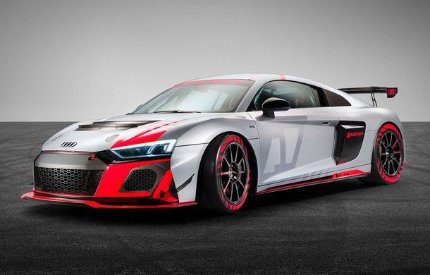 Audi a prezentat noua versiune R8 LMS GT4: versiunea de circuit oferă 495 CP și roți motrice spate - Poza 1