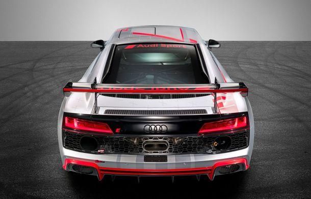 Audi a prezentat noua versiune R8 LMS GT4: versiunea de circuit oferă 495 CP și roți motrice spate - Poza 6
