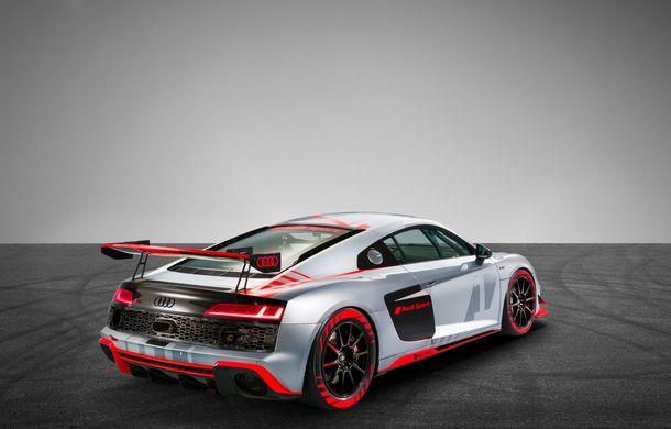Audi a prezentat noua versiune R8 LMS GT4: versiunea de circuit oferă 495 CP și roți motrice spate - Poza 7