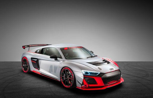 Audi a prezentat noua versiune R8 LMS GT4: versiunea de circuit oferă 495 CP și roți motrice spate - Poza 22